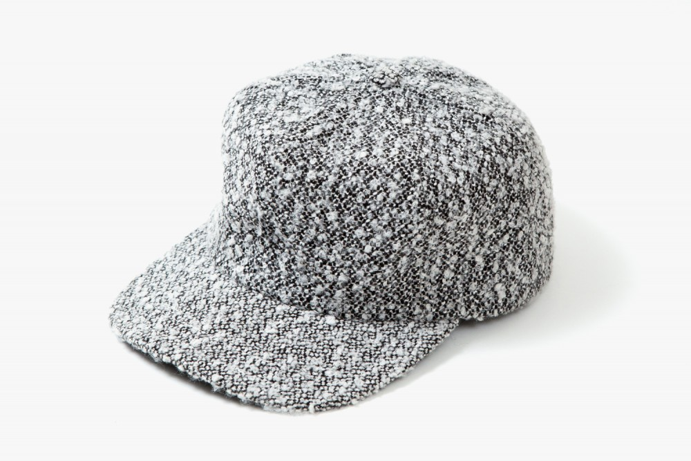 WINWEL-White-Speckle-Boucle-Baseball-Cap-01