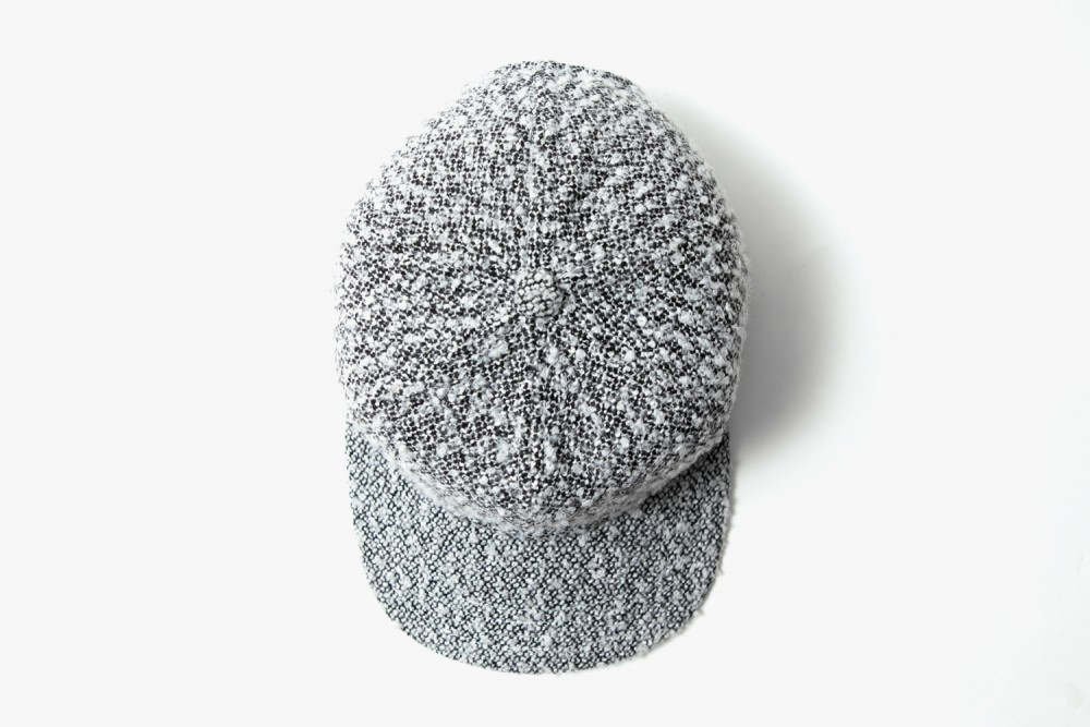 WINWEL-White-Speckle-Boucle-Baseball-Cap-07